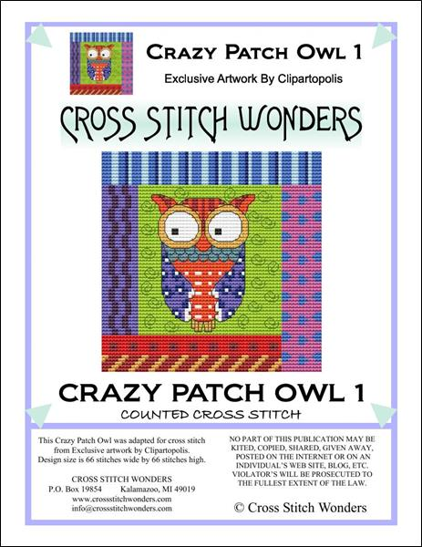 click here to view larger image of Crazy Patch Owl 01 (chart)