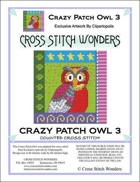click here to view larger image of Crazy Patch Owl 03 (chart)