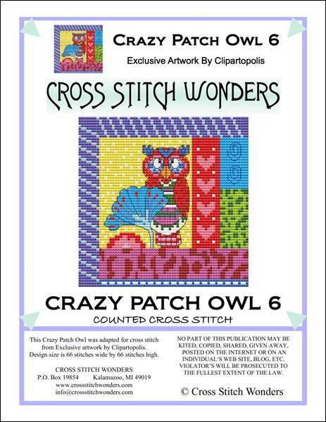 click here to view larger image of Crazy Patch Owl 06 (chart)