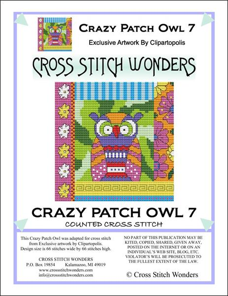 click here to view larger image of Crazy Patch Owl 07 (chart)