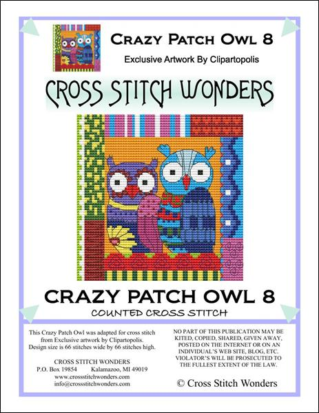click here to view larger image of Crazy Patch Owl 08 (chart)