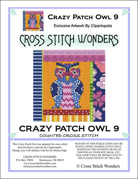 click here to view larger image of Crazy Patch Owl 09 (chart)