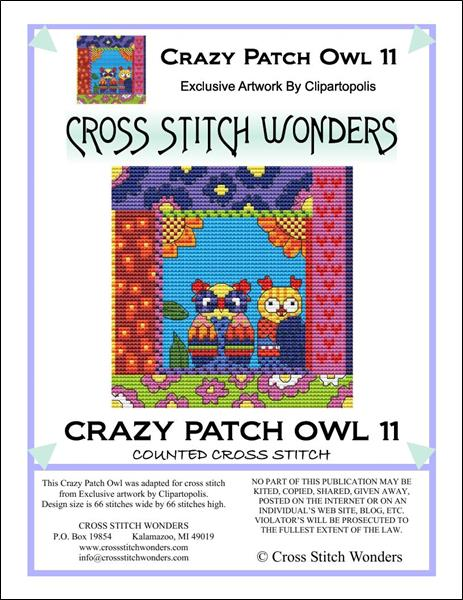 click here to view larger image of Crazy Patch Owl 11 (chart)