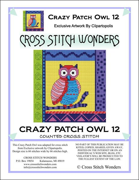 click here to view larger image of Crazy Patch Owl 12 (chart)