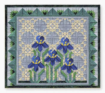 click here to view larger image of Spring Irises (counted canvas chart)