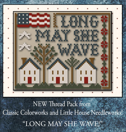 click here to view larger image of Long May She Wave (chart with charms/buttons)