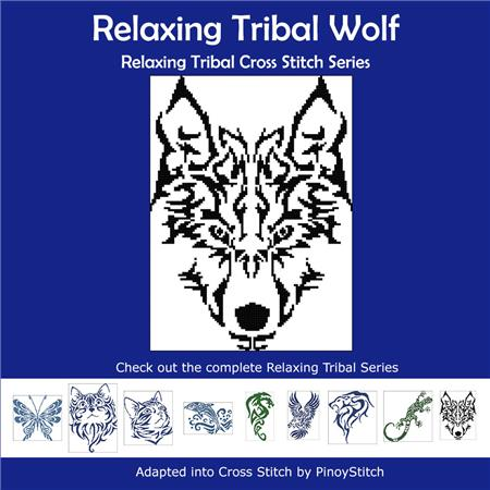 click here to view larger image of Relaxing Tribal Wolf (chart)