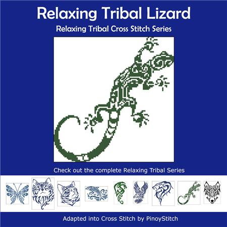 click here to view larger image of Relaxing Tribal Lizard (chart)