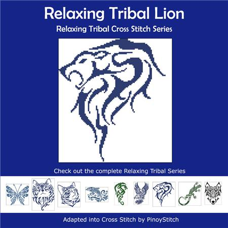 click here to view larger image of Relaxing Tribal Lion (chart)