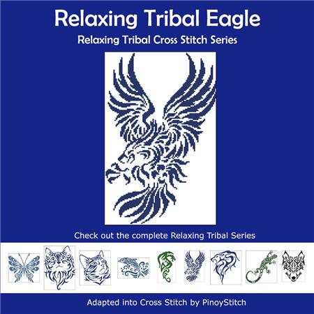 click here to view larger image of Relaxing Tribal Eagle (chart)