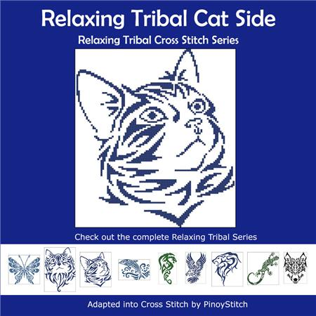 click here to view larger image of Relaxing Tribal Cat Side (chart)
