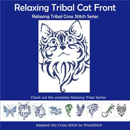 click here to view larger image of Relaxing Tribal Cat Front (chart)