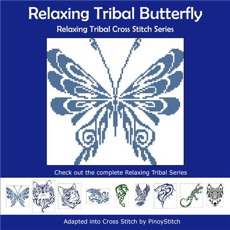 click here to view larger image of Relaxing Tribal Butterfly (chart)
