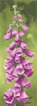 click here to view larger image of Foxglove - Flower Panels (27ct) (counted cross stitch kit)