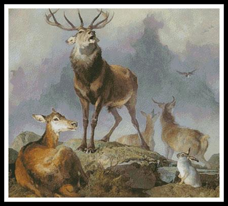 click here to view larger image of Scene In Braemar  (Sir Edwin Landseer) (chart)