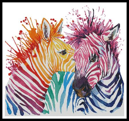 click here to view larger image of Colourful Zebras (chart)