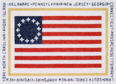 click here to view larger image of Colonial Flag - First Stars and Stripes (1777 - 1795) (counted cross stitch kit)