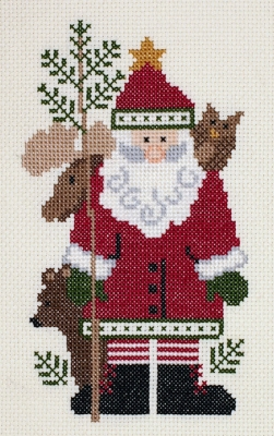 click here to view larger image of Kodiak Santa (counted cross stitch kit)