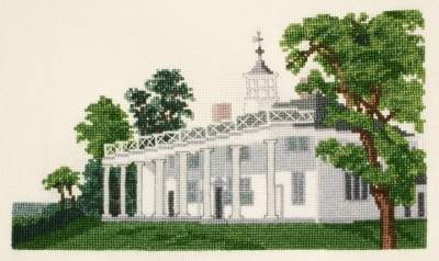 click here to view larger image of Currier and Ives Mount Vernon - Home of George Washington (counted cross stitch kit)