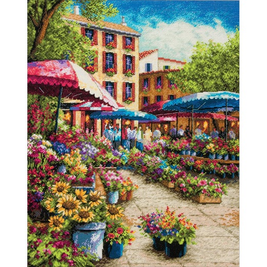 click here to view larger image of Provence Market (counted cross stitch kit)
