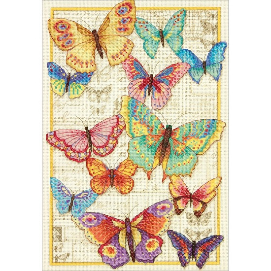 click here to view larger image of Butterfly Beauty (counted cross stitch kit)