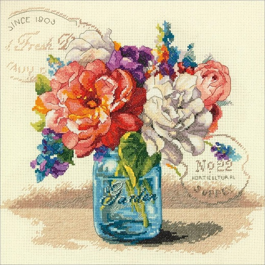 click here to view larger image of Garden Bouquet (counted cross stitch kit)