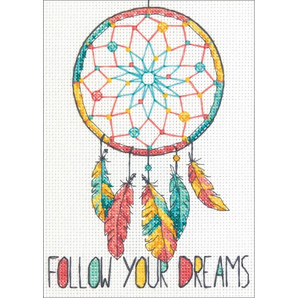 click here to view larger image of Dreamcatcher (counted cross stitch kit)