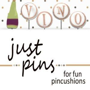 click here to view larger image of Just Pins - V is for Vino  (pin)
