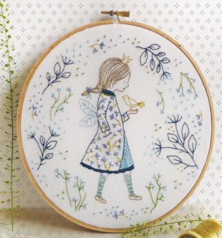 click here to view larger image of Tamar - Winter Fairy (stamped cross stitch kit)