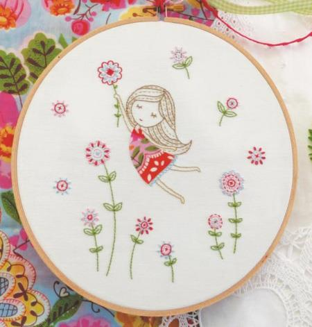 click here to view larger image of Tamar - Girl In Red Dress (stamped cross stitch kit)