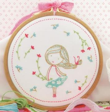 click here to view larger image of Tamar - Spring Girl (stamped cross stitch kit)