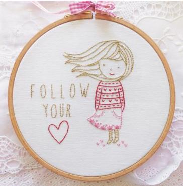 click here to view larger image of Tamar - Follow Your Heart (stamped cross stitch kit)