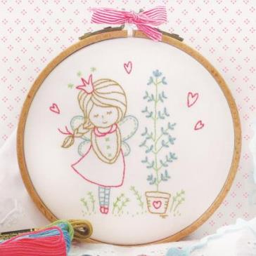 click here to view larger image of Tamar - Shy Fairy (stamped cross stitch kit)
