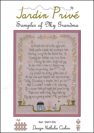 click here to view larger image of Sampler Of My Grandma (chart)