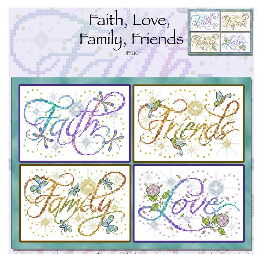 click here to view larger image of Faith, Love, Family, Friends (chart)