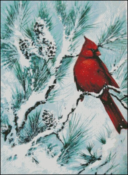 click here to view larger image of Winters Glory Red Bird (chart)