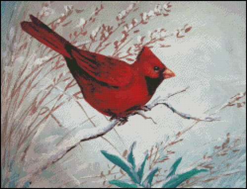 click here to view larger image of Winter Red Bird (chart)