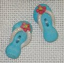 click here to view larger image of Aqua Flip Flops buttons - Set of 2 (buttons)