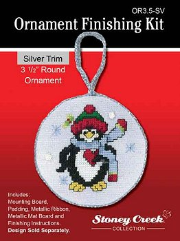 click here to view larger image of Ornament Finishing Kit - 3-1/2in Round - Silver (Finishing Products)