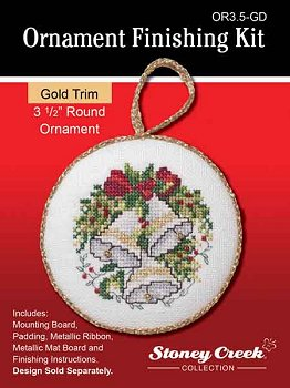 click here to view larger image of Ornament Finishing Kit - 3-1/2in Round - Gold (Finishing Products)