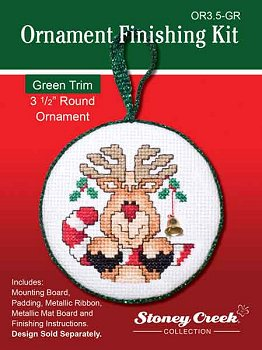 click here to view larger image of Ornament Finishing Kit - 3-1/2in Round - Green (Finishing Products)