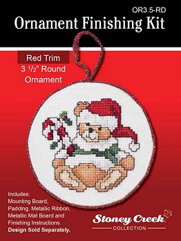 click here to view larger image of Ornament Finishing Kit - 3-1/2in Round - Red (Finishing Products)