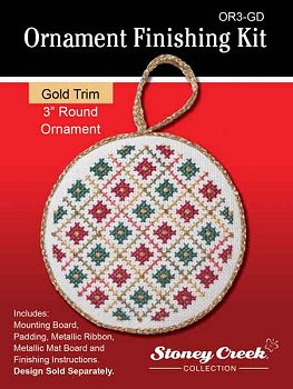 click here to view larger image of Ornament Finishing Kit - 3in Round - Gold (Finishing Products)