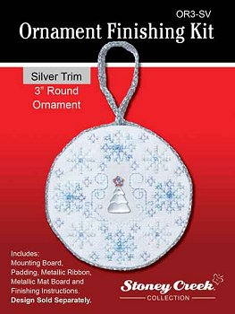 click here to view larger image of Ornament Finishing Kit - 3in Round - Silver (Finishing Products)