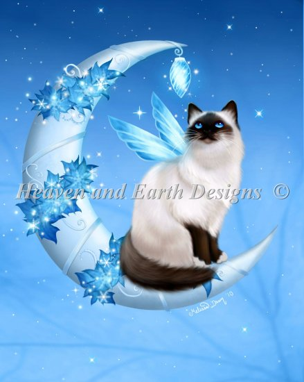click here to view larger image of Supersized Winter Moon Cat (chart)