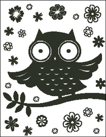 click here to view larger image of Big Eyed Owl Silhouette (chart)