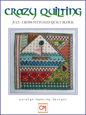 click here to view larger image of Crazy Quilting - July Block (chart)