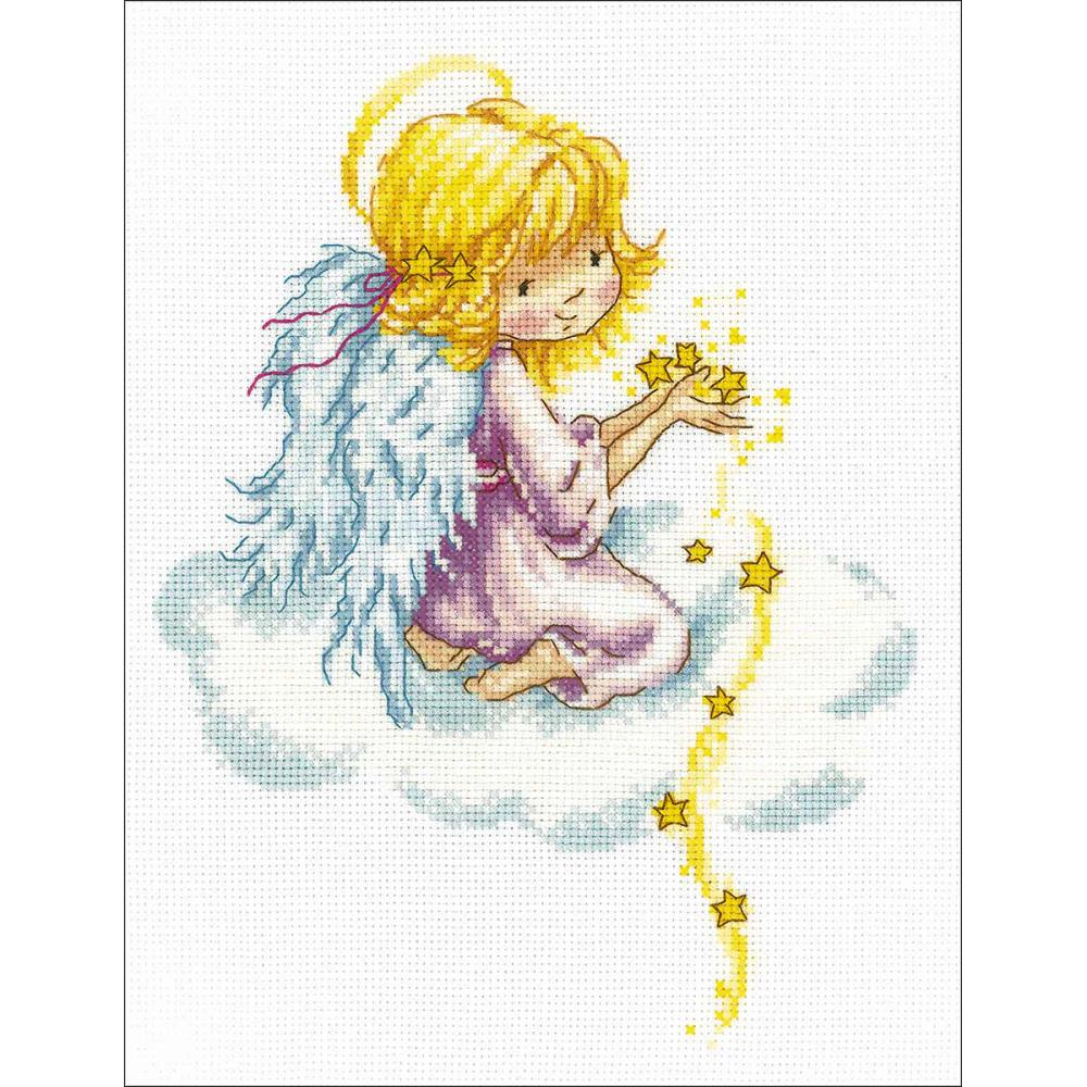 click here to view larger image of Star Angel (counted cross stitch kit)