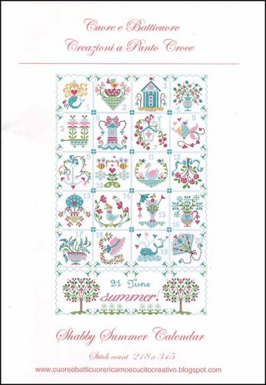 click here to view larger image of Shabby Summer Calendar (chart)