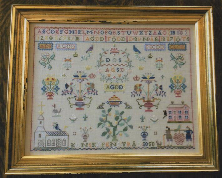 click here to view larger image of Anna Greta Danielsdotter - Swedish Sampler 1820 (chart)
